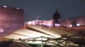 Techo del Templo Mayor en CDMX se derrumba por fuerte tormenta