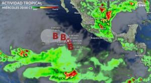 Trayectoria de la Tormenta Tropical Andrés