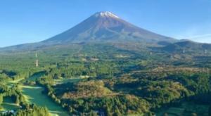 El monte Fuji aparece nevado mucho antes de lo esperado